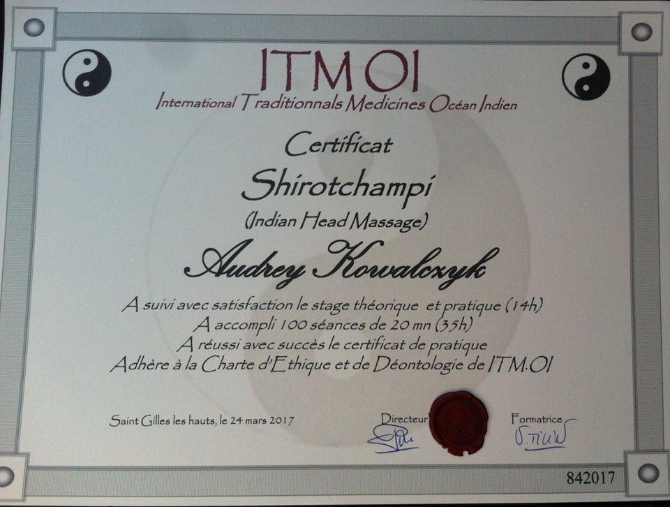 Certificat shirotchampi